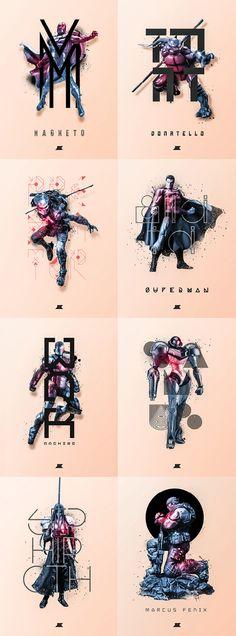 Heroes & Villains 2 series by Josip Kelava | buy prints here: http://society6.com/JosipKelava