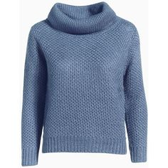 Sweater (€40) ❤ liked on Polyvore featuring tops, sweaters, jumpers, shirts, shirt sweater, shirt top, blue top, blue jumper and blue sweater