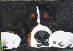 Quilt Story: Deborah's Berner Garde dog quilt...