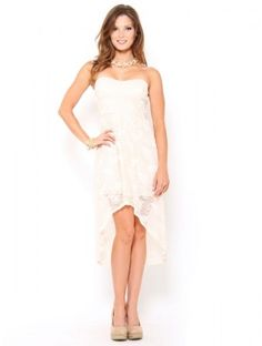 Lace High-Low Dress, #SFLsummerstyle