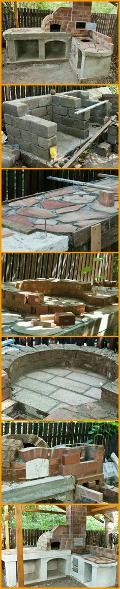 Ideas diy outdoor kitchen with pizza oven patio for 2019 Outdoor Rooms, Outdoor Gardens, Outdoor Living, Outdoor Decor, Outdoor Kitchens, Outdoor Ideas, Outdoor Oven, Outdoor Cooking, Backyard Projects