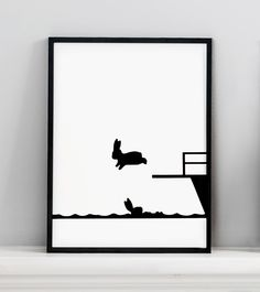 HAM Diving Rabbit Screen Print