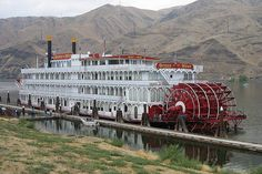 Queen of the West | This old paddlewheeler anchored at the dock in Clarkston, WA brought tourists up the Columbia and Snake Rivers from Portland.