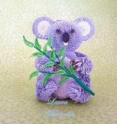 quilling my passion: Quilled Koala Quilling Dolls, Quilling Craft, Quilling Designs, Quilling Ideas, Paper Quilling Tutorial, Paper Art, Paper Crafts, 3d Figures, Quilling Techniques