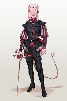 Lesly-oh: Commission for ! Her dnd tiefling named Willow - Character Creation, Fantasy Character Design, Character Design Inspiration, Character Drawing, Character Concept, Character Ideas, Dungeons And Dragons Characters, Dnd Characters, Fantasy Characters