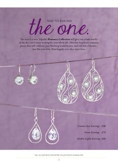 Use these great earring to add sparkle to your special day...