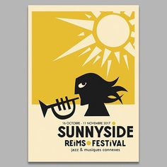 WEBSTA @ jeanmosambi - Poster for Reims Sunnyside festival #jazz #jazzfestival #poster #reims #graphicdesign #illustration