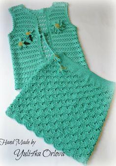 Crochet Toddler Dress, Crochet Baby Poncho, Crochet Dress Girl, Crochet Skirt Pattern, Baby Cardigan Knitting Pattern, Baby Girl Crochet, Crochet Baby Clothes, Baby Knitting, Baby Girl Cardigans