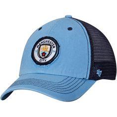 Manchester City '47 Taylor Closer Mesh Flex Hat - Light Blue/Navy - $27.99