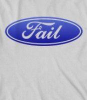 Ford fail parody logo tshirt www.skreened.com/amazingstuff