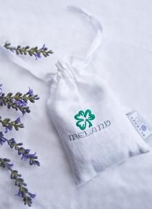 A bespoke scent pouch made in Ireland from Blarney Irish Linen and designed exclusively for Blarney Woollen Mills enriched with the scent of lavender. Woolen Mills, Linnet, Lavender Scent, Irish, Weaving, Fragrance, Pouch, How To Make, Design