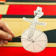 The circus has come to town! This paper Circus Rider Toy is one of the most innovative printable crafts for kids you'll find because it looks like a clown on a unicycle. This funny little guy is a quick idea for homemade toys.