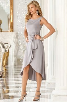 Boston Proper Draped dinner dress #bostonproper