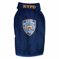 Royal Animals Official NYPD Patch Navy Blue Sweatshirt with Bright Blue Trim Royal Animals, Pet Clothes, Pet Care, Drink Sleeves, Your Pet, Badge, Police, Navy Blue, Sweatshirts