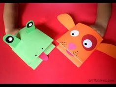 How to Make a Crocodile Paper Puppet - YouTube