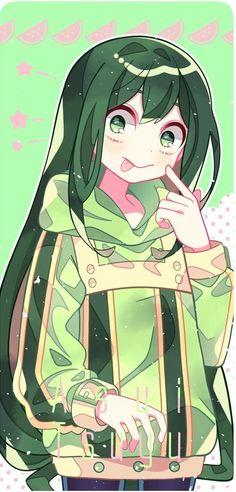 My Hero Academia Tsuyu, My Hero Academia Memes, Hero Academia Characters, My Hero Academia Manga, Anime Characters, Boku No Hero Tsuyu, Asui Boku No Hero, Tsuyu Asui, Otaku Anime