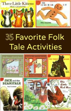 Favorite Folk Tale Activities – Fantastic Fun & Learning 35 Favorite Folk Tale Activities…preschool activities to go with books by Paul Galdone — Fantastic Fun and Learning Preschool Literacy, Preschool Books, Early Literacy, Tall Tales Activities, Teaching Resources, Drama Activities, Time Activities, Language Activities, Gaming