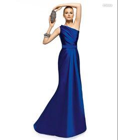 PRONOVIAS BARCELONA 2013 long collection prom dresses robe de soirée bleue788