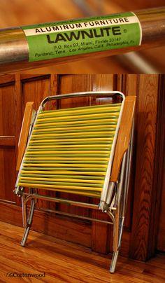 Vintage Rocking Lawn Chair Folding Rocking Lawn By OldCottonwood