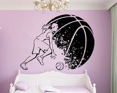 vinyl basketball wall decals for girls – Etsy