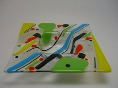 Fused Glass Multi Colored by brendasfusedglass on Etsy, $40.00