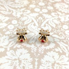 Rudolph the Red Nose Reindeer Studs – Artsy Penny