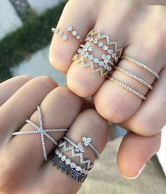 What's better than one EF Collection diamond ring stack? Two! Grab your bestie and shop our collection now.