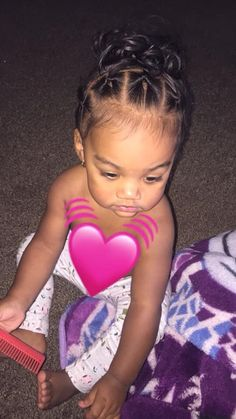 Mixed Baby Hairstyles, Cute Toddler Hairstyles, Kids Curly Hairstyles, Hairstyles Videos, Toddler Curly Hair, Girl Hair Dos, Biracial Hair, Mixed Hair, Mixed Girls