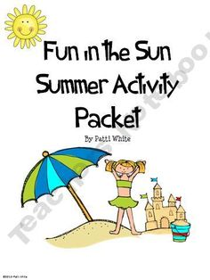 Fun in the Sun Summer Activity Packet