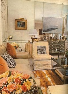 Billy Baldwin's own living room. Photo from Billy Baldwin Decorates