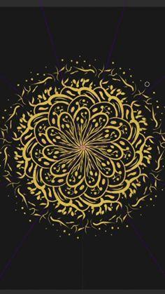 Golden mandala art repeat pattern by MyGlobik Mandala Drawing, Mandala Art, Repeating Patterns, Tapestry, Drawings, Home Decor, Mandalas, Sketches, Tapestries