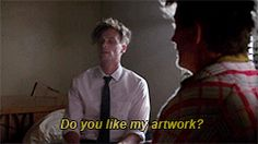 """criminal minds // """"do you like my artwork?"""" """"yeah I do. is that your feces?"""""""