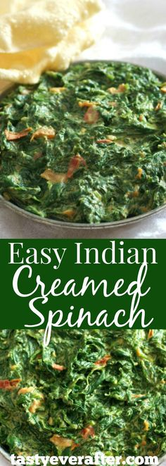 A deliciously simple variation of the traditional Indian Saag.  Made with fresh tender baby spinach, this dish can be on the table in 20 minutes.