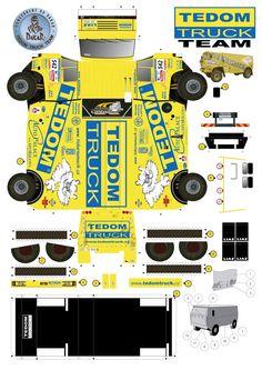 Caminhão de Papel Super Facil de Montar, Escolha seu Caminhão, Imprima a imagem e faça seu caminhão... Recortar e Colar - Brinquedos de... Paper Model Car, Paper Car, 3d Paper, Paper Models, Cardboard Toys, Paper Toys, House Colouring Pages, Mini 4wd, Rescue Vehicles