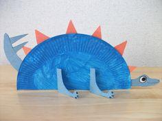 dinosaur crafts for preschoolers | Preschool Crafts for Kids*: Paper Plate Stegosaurus Dinosaur Craft