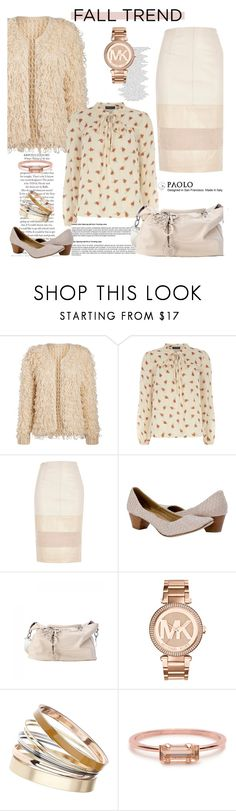 """""""Fall Jewelry Trend: Rose Gold and PaoloShoes"""" by spenderellastyle ❤ liked on Polyvore featuring Dorothy Perkins, River Island, Michael Kors and Bing Bang"""