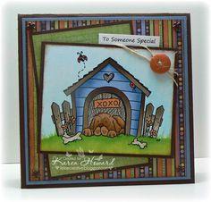 Dog House Digital Stamp
