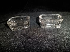 Pair of Old Glass Salts