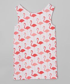 Look what I found on #zulily! Pink Flamingo Dress - Infant, Toddler & Girls #zulilyfinds