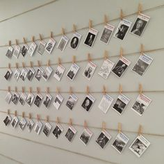 A School Called Home: The Revolution on Our Wall  I used twine strung between small finishing nails and mini clothes pin to make our timeline.