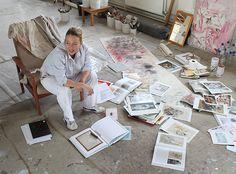 Jenny Saville in her studio.