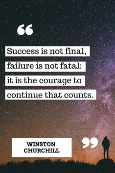 Courage to continue is what matters