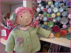 Emily Button in Haberdashery Heaven and a new coat by Jelly Jam Love Is Gone, Haberdashery, Jelly, Heaven, Buttons, Friends, Coat, Amigos, Sky