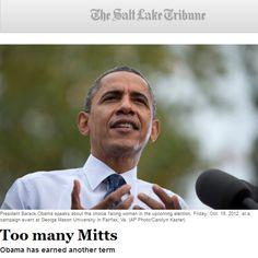BREAKING: Salt Lake City Tribune (SLC is the mecca of Mormonism) endorsed President Obama over Mitt Romney - Hispanic Politico