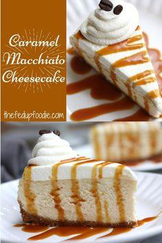 This incredible tasting Caramel Macchiato Cheesecake recipe is silky, smooth, and decadent. Special enough for your holiday gatherings! #ThanksgivingCheesecake #Cheesecake #SpecialCheesecake #AutumnCheesecake #CaramelCheesecake #CoffeeCheesecake #BakedCheesecake #PerfectCheesecake #HolidayCheesecake