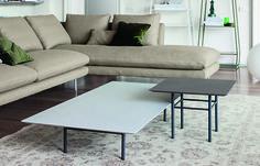 Table basse Fard 1 – Biomalta:Gamme de tables basses caractérisées par une structure en acier vernis et un plateau en bois plaqué ou bois biomalta. Existe dans plusieurs dimensions. Dimensions :…