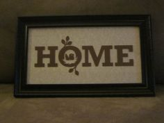 """Home"" in frame"