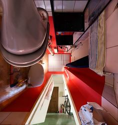 photos taken from the underbelly of a room by michael rohde.