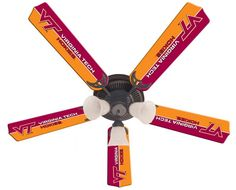 Use this Exclusive coupon code: PINFIVE to receive an additional 5% off the Virginia Tech University 52-Inch Ceiling Fan Kit at SportsFansPlus.com