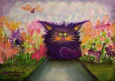 cynthia schmidt cranky cats | Cranky Cat On Garden Path